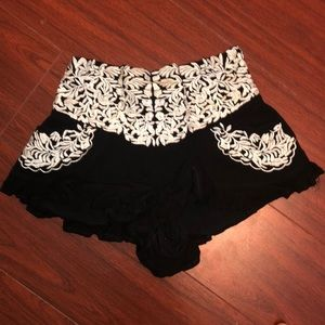 LF Black & White Soft Shorts